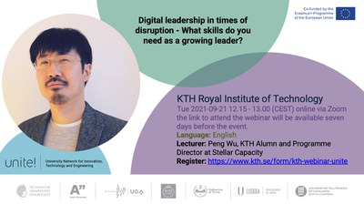 Unite! Invites you to join our webinar on digital leadership in times of disruption - What skills do you need as a growing leader?